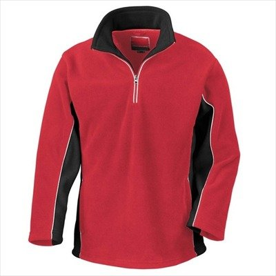 Result - Tech3 1/4 Zip Fleecepullover Sport XL,Red/Black