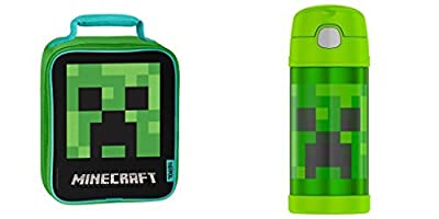 Thermos Insulation Lunch Box and Travel Bottle - Minecraft