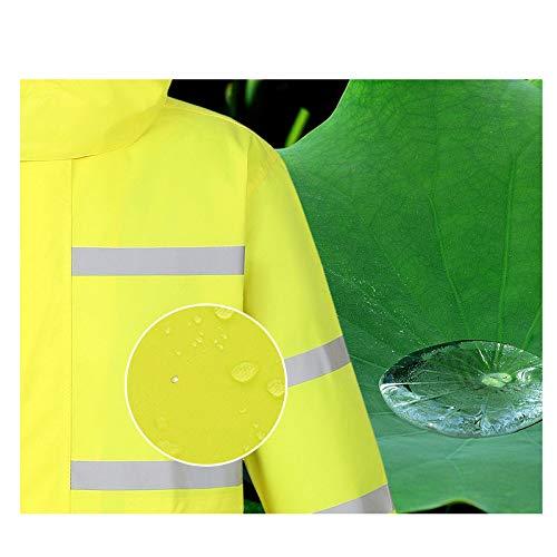 Giallo Cappotto Riflettente giallo Xxl Riutilizzabile Fluorescente Poncho Dimensioni Lungo Monoblocco Dqmsb Impermeabile Fluorescente Fluorescente colore BSwqZcWca