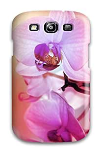 Unique Design Galaxy S3 Durable Tpu Case Cover Beautiful Orchid Flowers