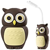 Cute Portable Charger 6700mAh Power Bank with USB LED Light, Animal Cartoon Kids Girls Gift 2.1A External Battery Pack for iPhone 8 7 6 Plus Samsung S8 iPad Cell Phone - Owl
