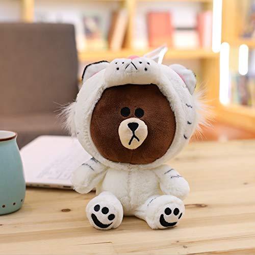 GOOGEE Stuffed & Plush Animals - Brown Bear Plush Toy Korean Bear in Dinosaur/Pig/Dog/Suit Cute Animal Stuffed Soft Doll Anime Figure Baby Kids Toys Child S Gift - Figures Age -