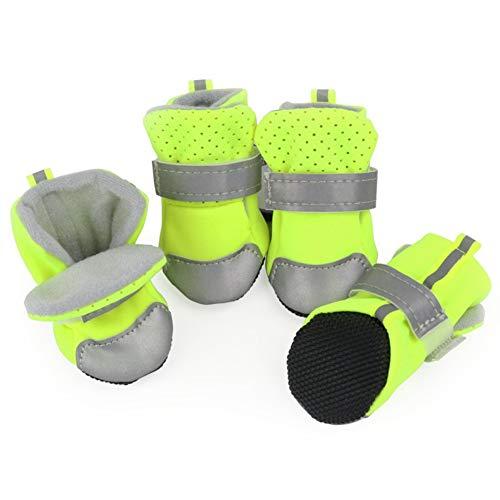NOMIMAS Pet Dog Shoes Waterproof for Small Dog Anti Slip Pet Dog Boots Plush Cotton Warm Shoes for Pet -