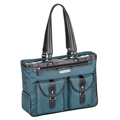 Clark & Mayfield Marquam Laptop Handbag 18.4'' (Deep Teal) by Clark & Mayfield