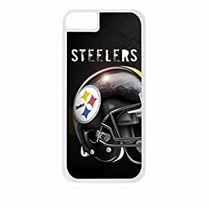 Steelers Art- Hard White Plastic Snap - On Case-Apple Iphone 5C Only - Great Quality!