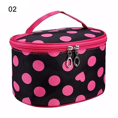 PomPomHome Women Portable Waterproof Makeup Bag Travel Cosmetic Bag Organizer Case Necessaries Toiletry Bag Bathroom Supplies Sort (02)