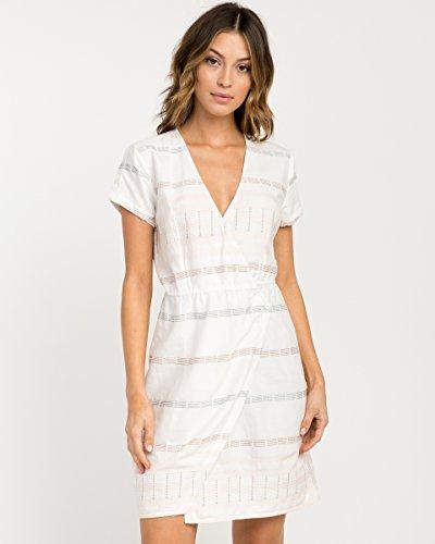 RVCA Junior's Rose Wrap Dress, Vintage White, S by RVCA (Image #1)