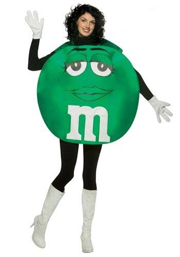 M&Ms Poncho Female Costume (Green M And M Halloween Costume)