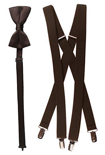 Bow Tie and Suspender Set Combo in Men's & Kids Sizes (48