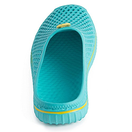 PutiTower Mens Womens Garden Clogs Shoes Sandal Comfortable Slippers (11 B(M) US Women/ 9 D(M) US Men, blue&green) by PutiTower (Image #3)