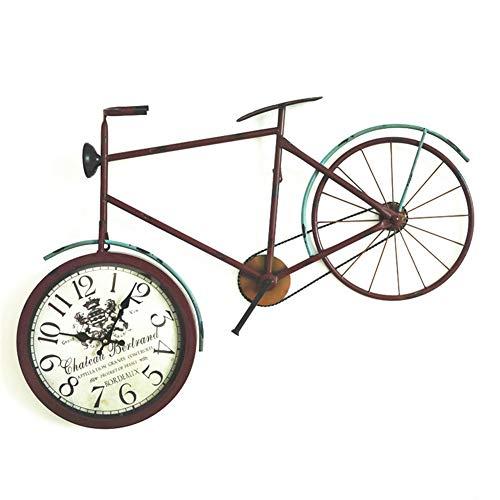 YJIUJIU Reloj de Pared, Estilo Industrial Vintage Cafetería Bar ...