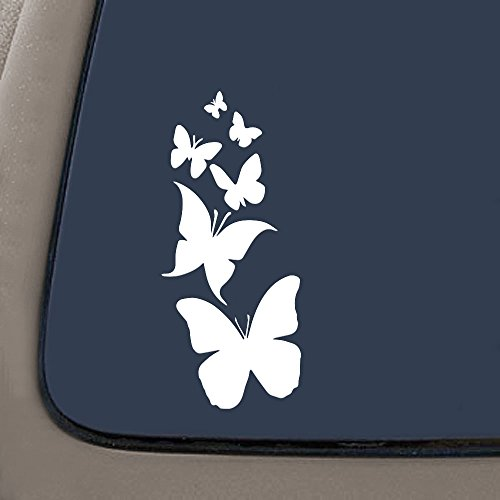 NI122 Butterfly Family- Die Cut Vinyl Window Decal/sticker for Car , Truck, Laptop | 7