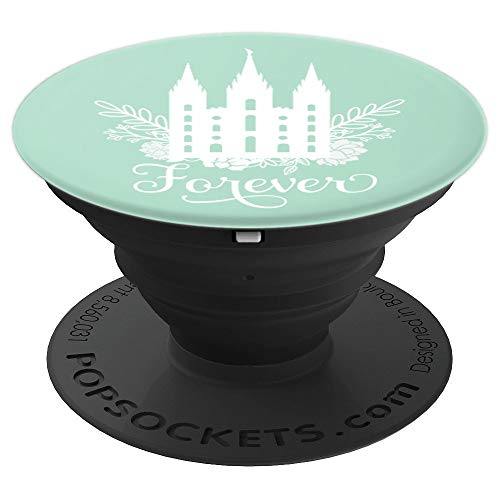 Forever Temple Design - Color: Mint - PopSockets Grip and Stand for Phones and Tablets