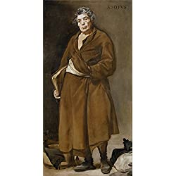 High Quality Polyster Canvas ,the Replica Art DecorativePrints On Canvas Of Oil Painting 'Velazquez Diego Rodriguez De Silva Y Aesop Ca. 1638 ', 12 X 24 Inch / 30 X 60 Cm Is Best For Bathroom Gallery Art And Home Decoration And Gifts