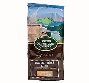 Green Mountain Breakfast Blend Decaf, Ground Coffee, 12oz. Bag (Pack of 3)