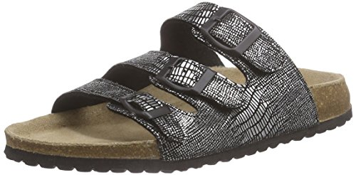 Softwaves 274 372 - Mules Mujer Plateado - Silber (Black 009)