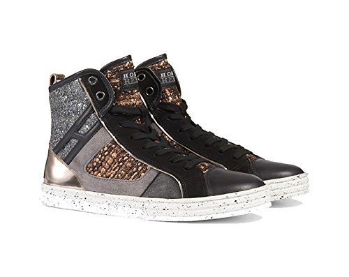 HOGAN REBEL COLOR ORO ARGENTO E NERO, Donna.