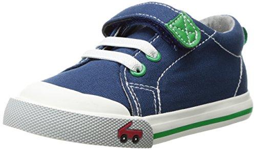 Run Green - See Kai Run Boys' Stevie II Sneaker, Navy, 12 M US Little Kid