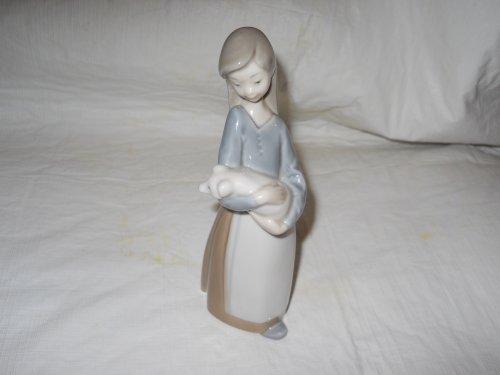 Lladro Figurines Animal - Lladro Figurine 1011 Girl with Pig