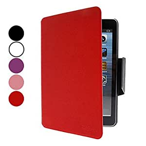 Nsaneoo - Microgroove Pattern PU Leather Case with Stand and Card Slot for iPad mini (Assorted Colors) , Black