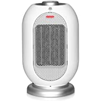 MRMIKKI Small Space Ceramic Heater for Office with Fan, Tip-Over and Overheat Protection