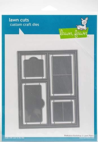 Lawn Fawn Lawn Cuts Custom Craft Die LF1626 Peekaboo Backdrop (Fawn Lawn Baby Hello)
