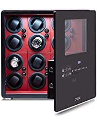 Safe Watch Winder Box for 12 Automatic Watches with Dual Digital & Card Key Lock Security by Cheopz
