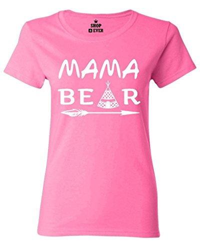 Shop4Ever Mama Bear Teepee Women's T-Shirt Mother's Day Shirts