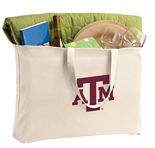 Broad Bay Jumbo Texas A&M Tote Bag or Large Canvas Texas A&M Aggies Shopping Bag