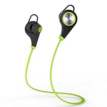 Kans Bluetooth 4,0 inalámbrico auriculares deportivos in-Ear auriculares estéreo auriculares postulas para iPhone y smartphone Android Nodo de navegación ...