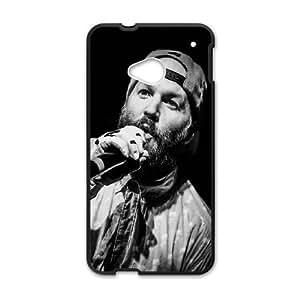 HTC One M7 Cell Phone Case Black Fred Durst Limp Bizkit Music Rapcore Black White GY9075283