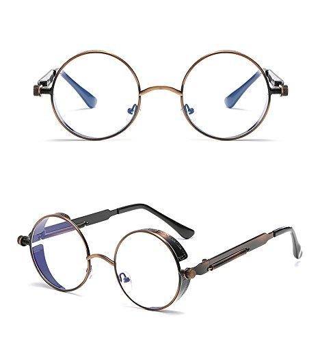 reflexivo Espejo Pierna la de Marco Sol Pierna RFVBNM C de de Redondo Gafas sol Gafas de Actual Metal A la Color de Retro Señora x0apnwACqp