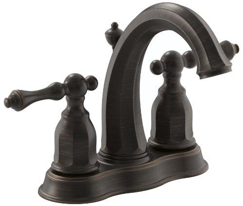 Kohler K-13490-4-2BZ Kelston 4-Inch Centerset Lavatory Faucet, Oil Rubbed Bronze ()