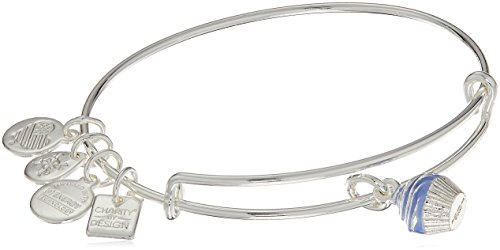 Alex and Ani Charity By Design, Cupcake II EWB Shiny Silver Bangle Bracelet -