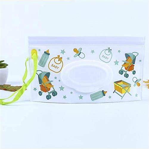 QICHENGBIN Mini Joyero Toallitas húmedas for bebés portátil tirón Desmontable Bolsa de EVA Sanitaria Toallitas Bolsa, for el Coche/baño/habitación/Salón (Color : Style 3)