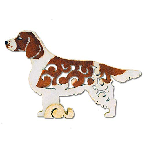 - Welsh Springer Spaniel dog figurine, dog statue made of wood (MDF), statuette hand-painted