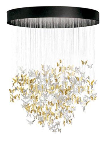 (Lladro Niagara Porcelain Chandelier 01017231 for Big Spaces lamp, Living-Dining Room, Elegant Luxury Modern Golden Fairy Lights, Fiber Optic Lights, Luster Magic Effect, Hand Painted Spain)