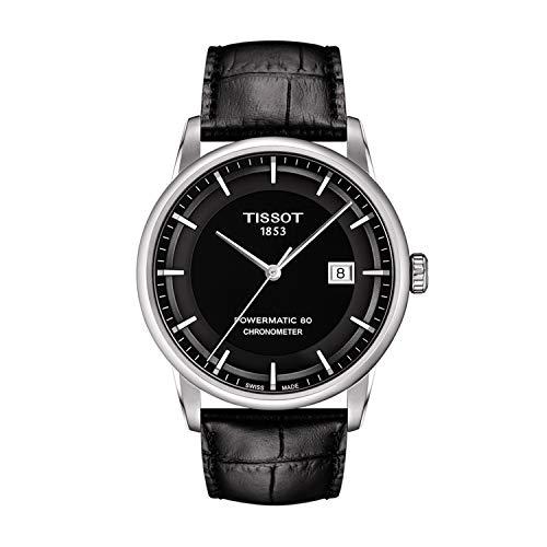 (Tissot Men's T0864081605100 Luxury Analog Display Swiss Automatic Black Watch)