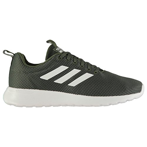 adidas Mens Cloudfoam Lite Racer Clean Trainers BaseGreen/White UK 10 (44.7) Yv54m