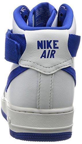 Nike Air Force 1 HI Retro QS, Zapatillas de Balonmano para Hombre Azul-Blanco