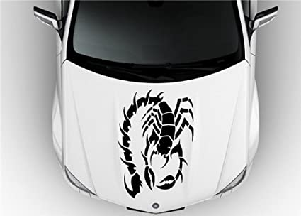 ceb514f65 Image Unavailable. Image not available for. Color: Vinyl Decal Mural Sticker  Scorpion Tribal ...