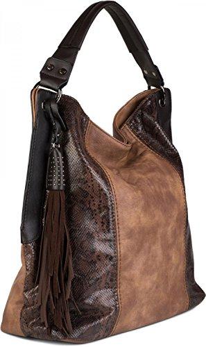 styleBREAKER - Bolso al hombro para mujer rojo borgoña talla única marrón