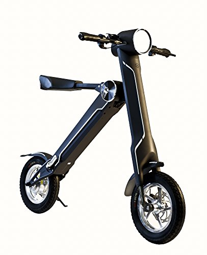 eByke Folding Electric Bike/Scooter 15 MPH Max Speed 22-25 Miles Range, E15 | Electric Scooter/Electric Bike/E-Bike (Adults & Kids)