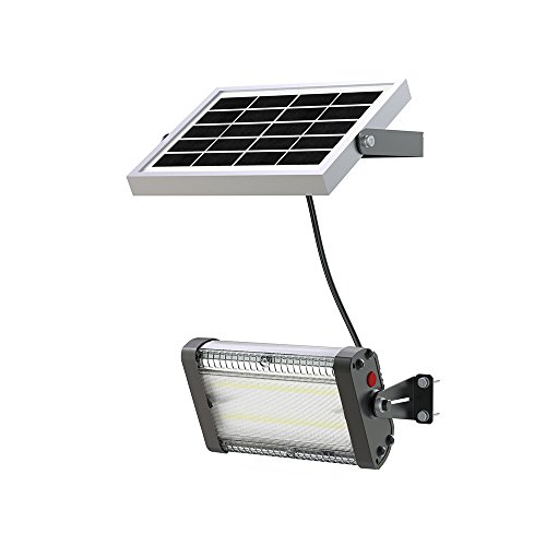 Solar LED Barn Light, 4,000mah Li-ion Polymer Battery for Outdoor Indoor Flood Light with Remote Control, 1,000 Lumen by Smart Purchase Co.
