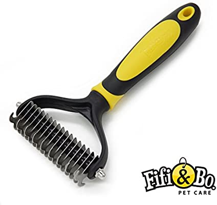 Mikki Dog Puppy Grooming Undercoat Rake Dematting Tool Removes Matts for Thick Coats