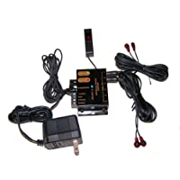 HdtvHookup Infrared (IR) Remote Control Repeater Kit (Black)
