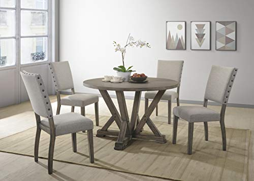 Best Master Furniture Anna 5 Piece Dining Table Set Gray