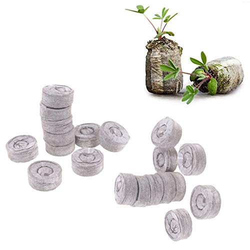 Tee Vee 35mm Peat Pellets for Seeds Germination Seeds Starting Direct Plant Seed Starters (100, 35mm)