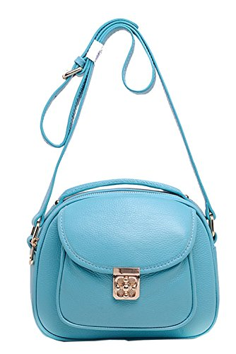 Bags New Womens SAIERLONG Blue Blue Body Cross Shoulder Cowhide Bags Leather Genuine USd8qwd