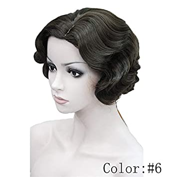 Amazon 1920s Flapper Hairstyles For Women Finger Wave Wigs